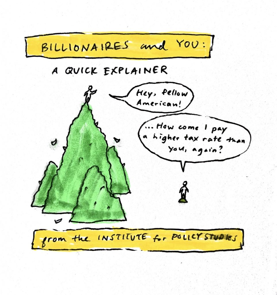 "Decorative text says ""billionaires and you: a quick explainer"""